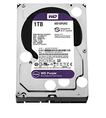"WESTERN DIGITAL Disque dur interne 3.5"" 1To, Purple (surveillance) (WD10PURZ)"