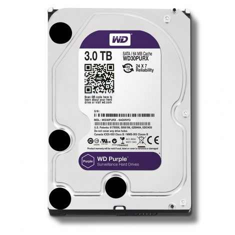 "WESTERN DIGITAL Disque dur interne 3.5"" 3To, Purple (surveillance ) (WD30PURX)"