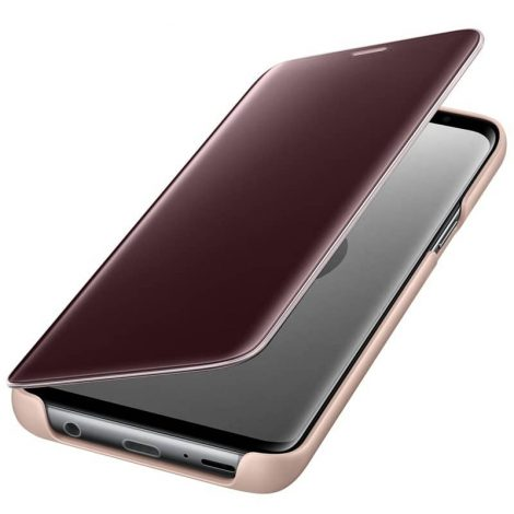 SAMSUNG Clear View Standing Cover GOLD S9 Plus (EF-ZG965CFEGWW)
