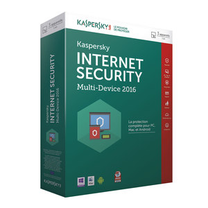 KASPERSKY Internet Security 2016  3 Postes 1 an