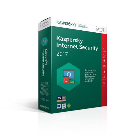 Kaspersky Internet Security 2017 License 1 poste 1 an Multi-Devices
