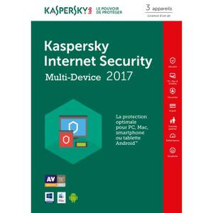 Kaspersky internet security 2017 3 Postes multi-devices